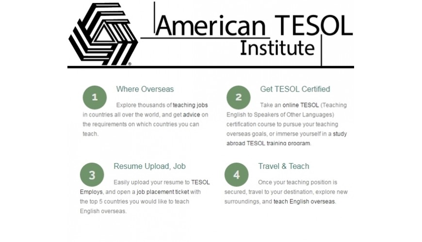 AMERICAN TESOL  certification and job placement